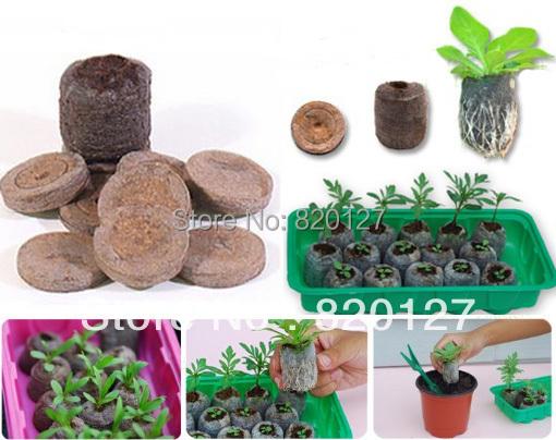 40pcs/lot, 30mm Jiffy Seed Starting Seeds Starting Plugs Professional Peat Soil Pallet-BIODEGRADABLE GARDEN SUPPLIES!(China (Mainland))