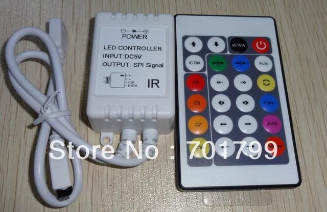 DC5V 24key IR WS2801 pixel controller;72W output