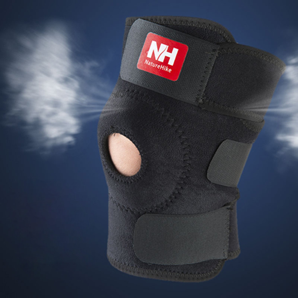 NatureHike Sport Knee Support Brace Durable Knee Pad Football Basketball Volleyball Shin Protector Guard Pad Kneepad Black(China (Mainland))