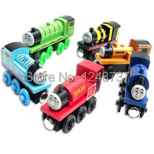 6Pcs/Lot thomas & his friends trains toy set / wooden thomas train with magnet toys for kids, children toys(China (Mainland))
