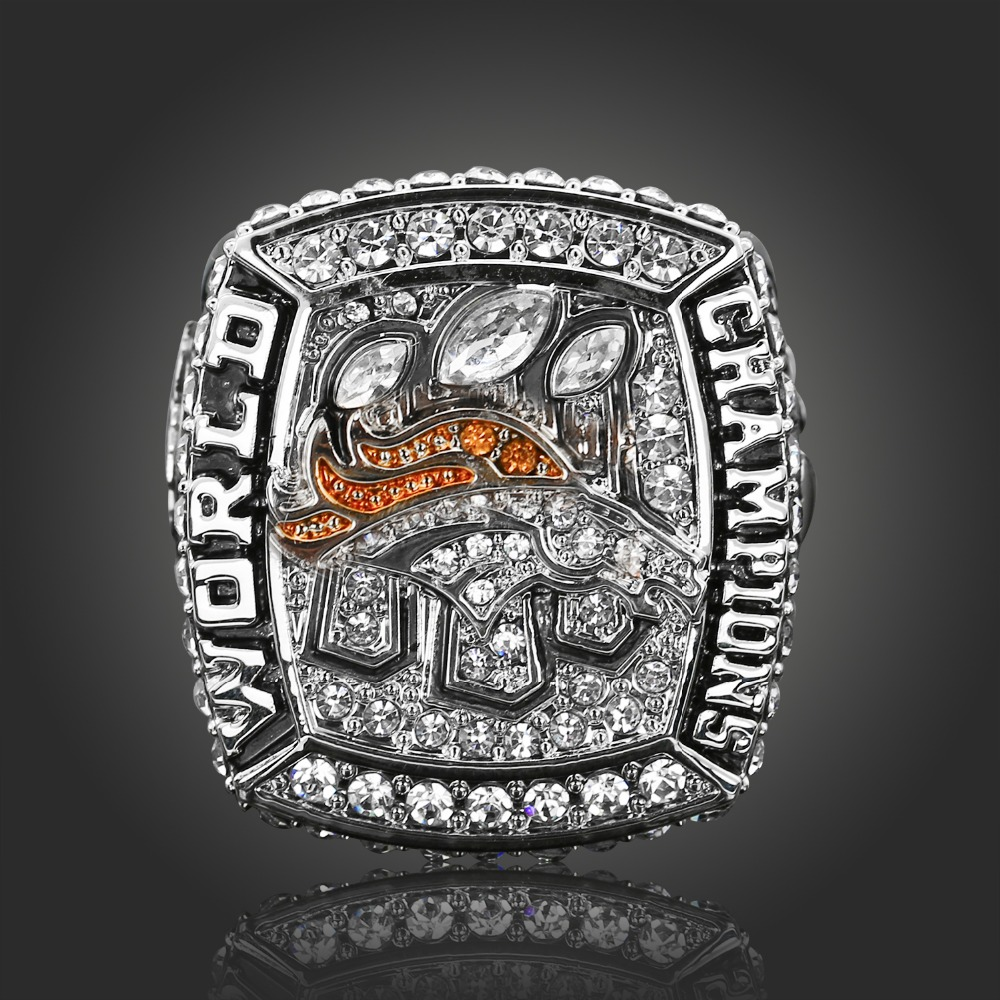 NFL 2015 Denver Broncos Super Bowl Championship Rings American Football World Champion Rings Classic Collection Jewelry(China (Mainland))