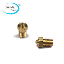 3 D printer accessory DIY copper/brass nozzle 0.3/0.4 mm for 3 mm filament E3D hotend top quality free shipping