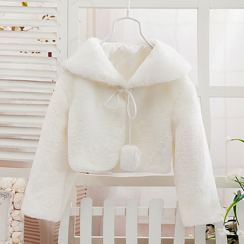 long sleeve fur coats girls flower dress shawl clothing princess children outerwear cape GC-009 - Baby Kids Children Paradise store