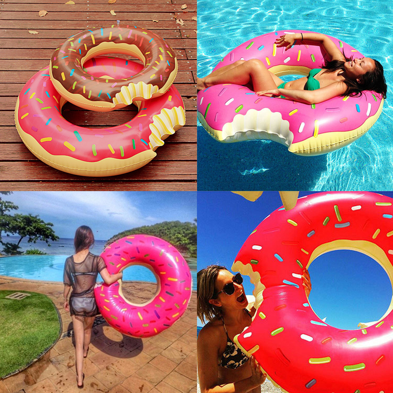 2016 New 60-120cm Pool Swimming Float Inflatable Donut Swimming Ring Rings Safety Summer Water Sport Inflatable Pool Toy Hot(China (Mainland))