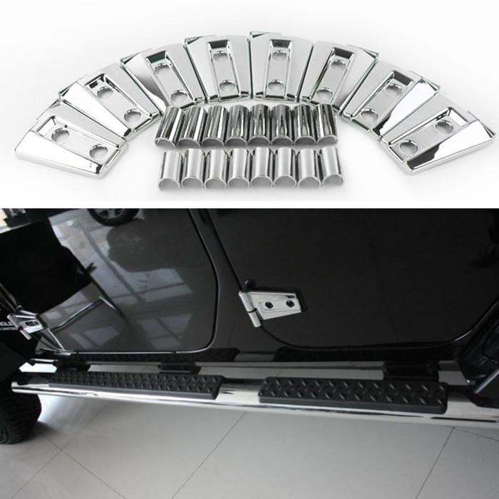 (8 pieces/lot) Chrome ABS Door Hinge Covers for 2007-2015 Jeep Wrangler JK Door Bezel Protector Trim(China (Mainland))
