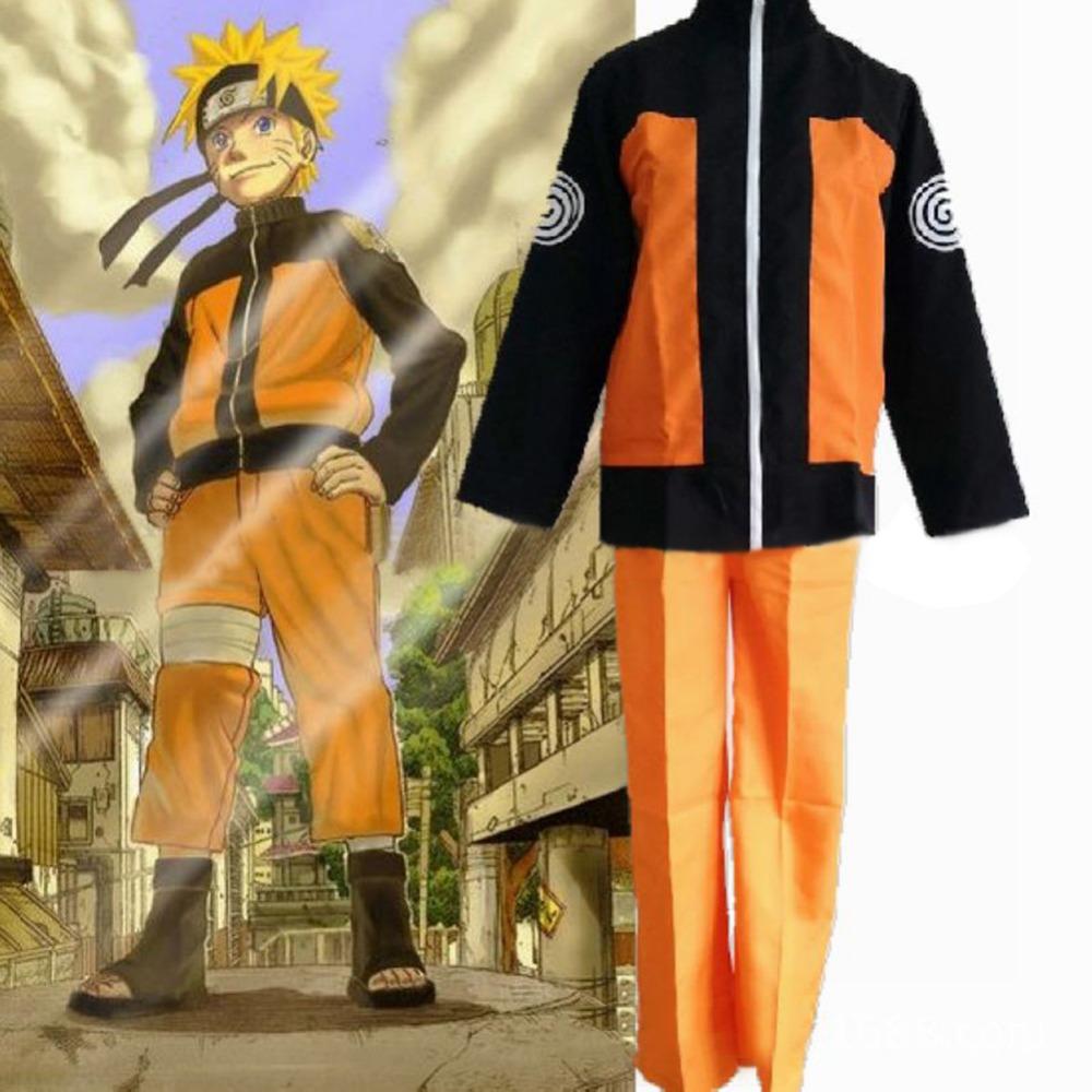 Naruto Custom made Naruto Jacket Shippuden Uzumaki Men's Naruto Cosplay Costume Anime for halloween christmas party(China (Mainland))