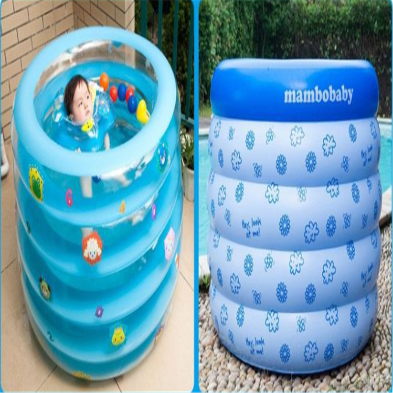 2pcs/lot 100*75cm Round inflatable swimming pool for baby swim and bath use baby activity products supply(China (Mainland))