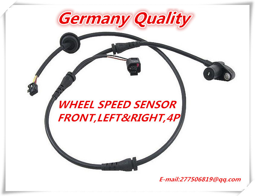 Free Shipping ABS Wheel Speed Sensor Front for Audi A4 A4 Quattro RS4 S4 Febi 8E0927803B 0 265 006 809(China (Mainland))