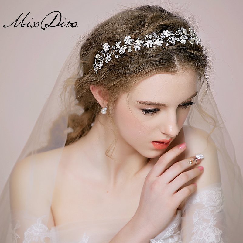 Miss Diva Pure Handmade Ice Elegant Semi-precious Stone Wedding Bride Headdress Pearl Hair Hoop Party Accessories Hair Sticks<br><br>Aliexpress