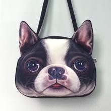 Chinese designer handbags high quality women messenger bag 3D Animal Printing women bag lovely dog face sac a main shoulder bag