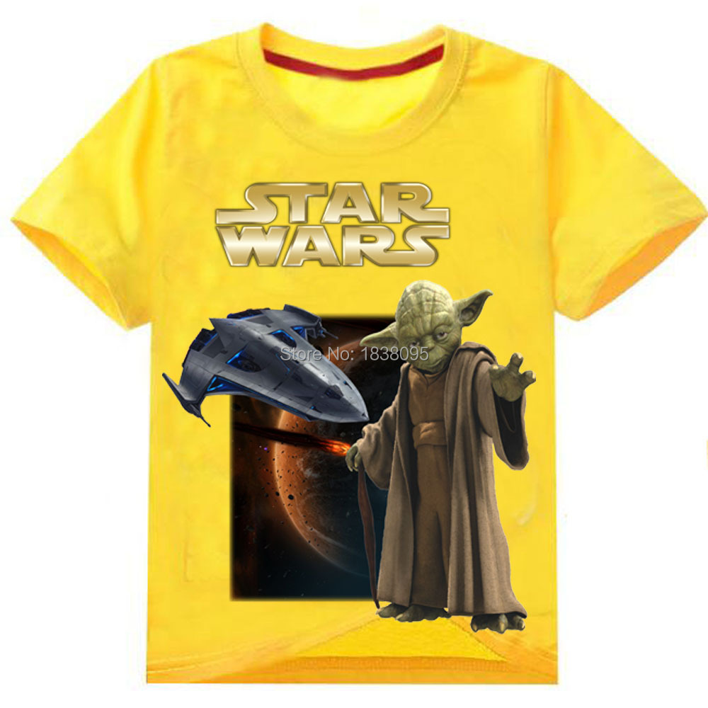 3 To 13 Years Old STAR WARS Children Boys Tees Tops T Shirts 2016 Summer New Cartoon Child Kids Boys Short Sleeve Clothes Shirts(China (Mainland))
