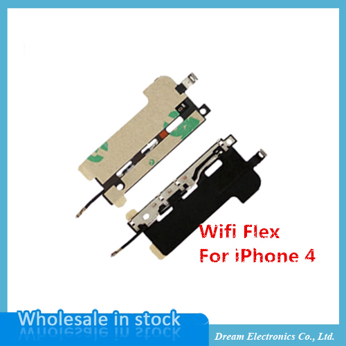 10pcs/lot 4G Wifi Antenna Metal Cover Flex Cable for iPhone 4 / 4G Replacement Mobile Phone Flex Cables Free Shipping(China (Mainland))