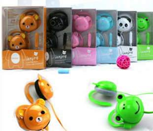 Best Quality Cartoon Bear Panda Earphone Bass Headphone For iPhone for Samsung for HTC Xiaomi Earhook with Mic Gifts for kids(China (Mainland))