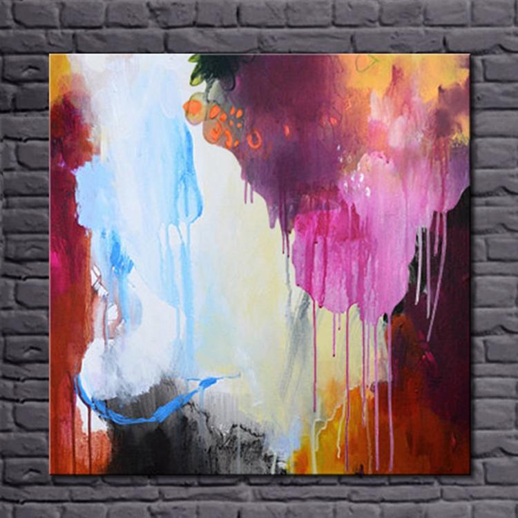 No Frame Newest 100% Handmade Abstract Oil Painting on Canvas Modern Simple Color Wall Art for Home Decoration(China (Mainland))