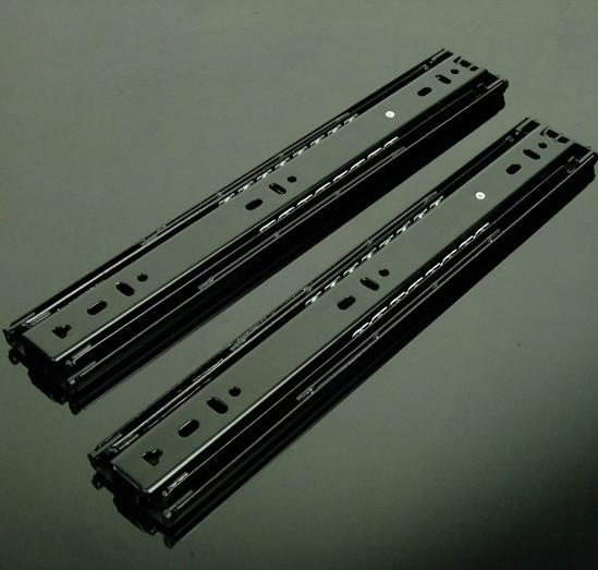 Slide rail 40 bearing three black silver drawer slides(China (Mainland))