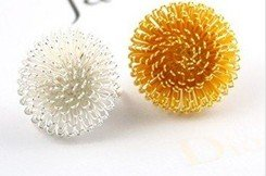 Fashion Hot Sale New Arrival Sweet Girl Large Dandelion Flowers Ring R234(China (Mainland))
