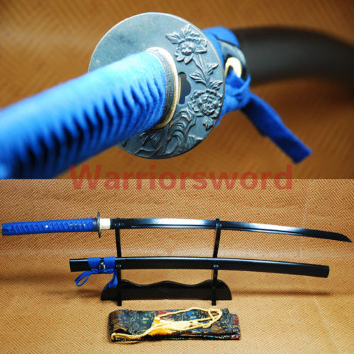 Black Blade Katana Full Tang Sword Japanese Samurai Sword #01(China (Mainland))