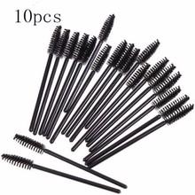 10 X Beauty Disposable Eyes Lash Make Up Mascara Wands Brush New Free Shipping(China (Mainland))