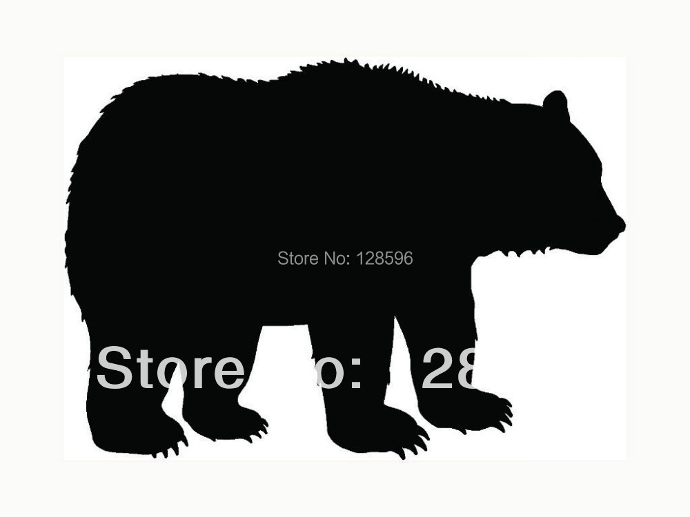 Bear Sticker Grizzly Black Outdoors Wild for Car Window Laptop Vinyl Decal Cool Gift(China (Mainland))