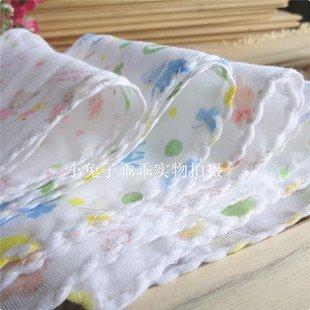 Free shippment/30pcs/Baby towel/bath towel/gauze handkerchief double printed gauze 31 * 31 centimeters