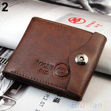 Men s Magnetic Clasp Faux Leather Bifold Card Holder Pockets Slim Purse Wallet 1QTW