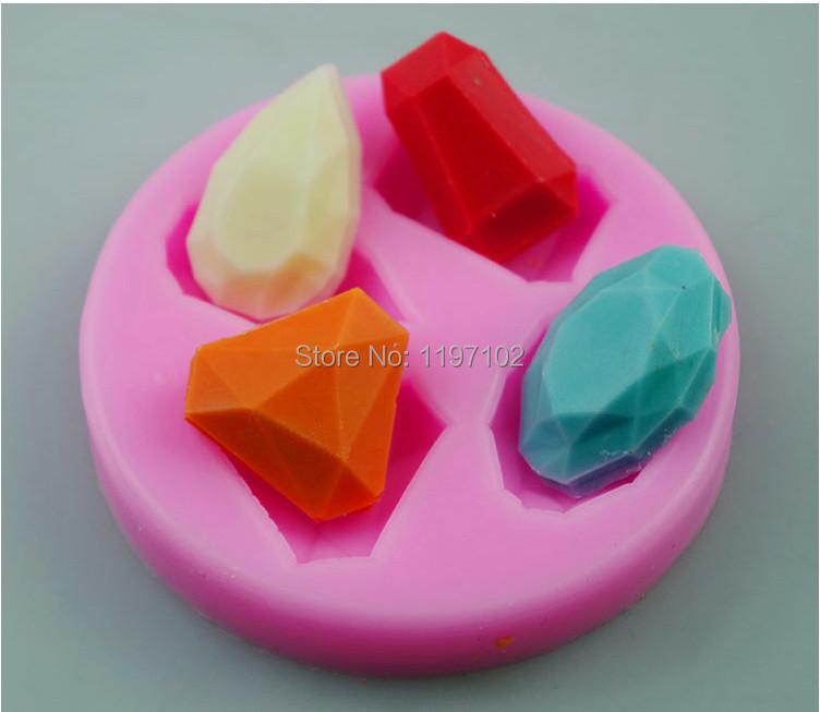 Fondant Cake Silicone Molds : Gemstone Jewelry silicone Mold Fondant skull 3D silicone ...
