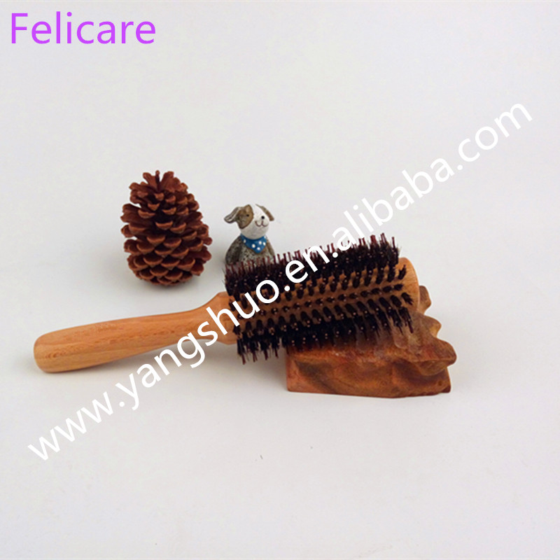 Wooden Paddle Brush Wooden Hair Care Spa Massage Comb Antistatic Comb(China (Mainland))