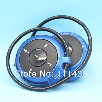 5pcs/lot cheaper Mulitfunction Sports Headphone mp3 player FM wireless micro SD TF card earphone headset headphones with Mic Q5