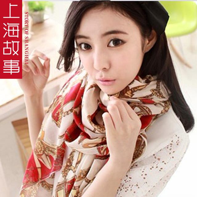 Ultralarge 2013 leopard print chiffon long silk scarf