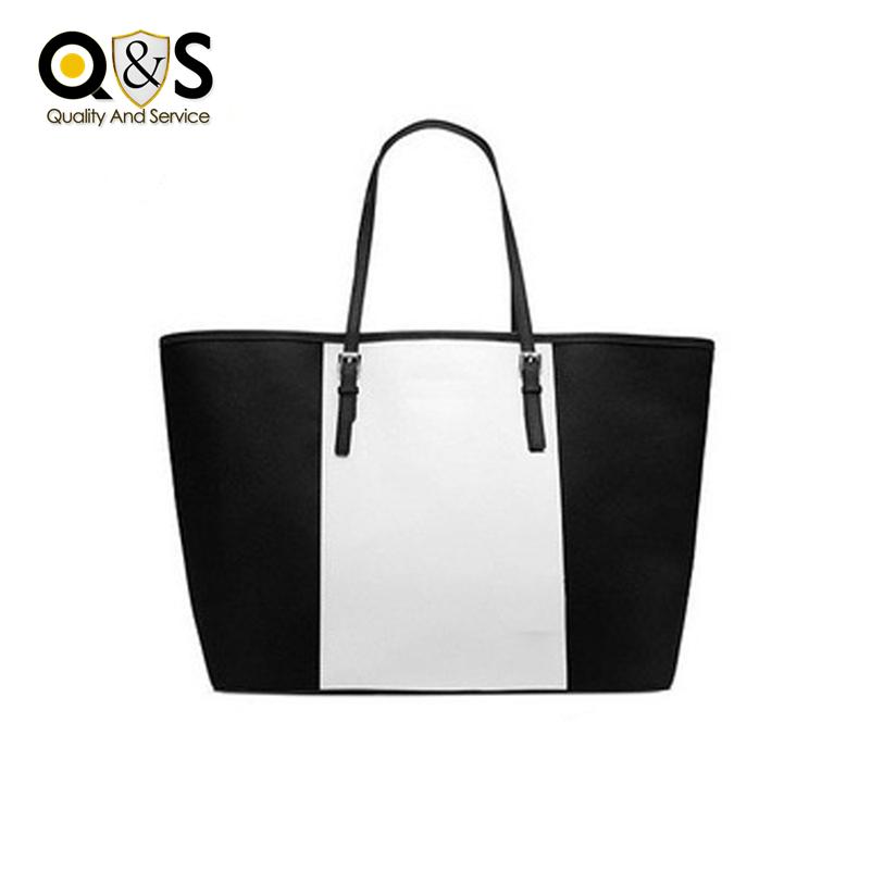 Luxury Shopping Big Bags Designer Handbags Hit Color Women PU Lather Satchel Fashion Bolsas Lager Capacity Single Shoulder Bags