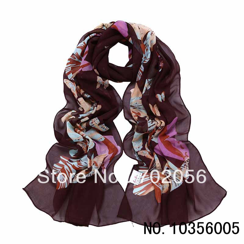 butterfly lady  fashion Long Scarf Wrap Shawl Stole mix color #2722Одежда и ак�е��уары<br><br><br>Aliexpress
