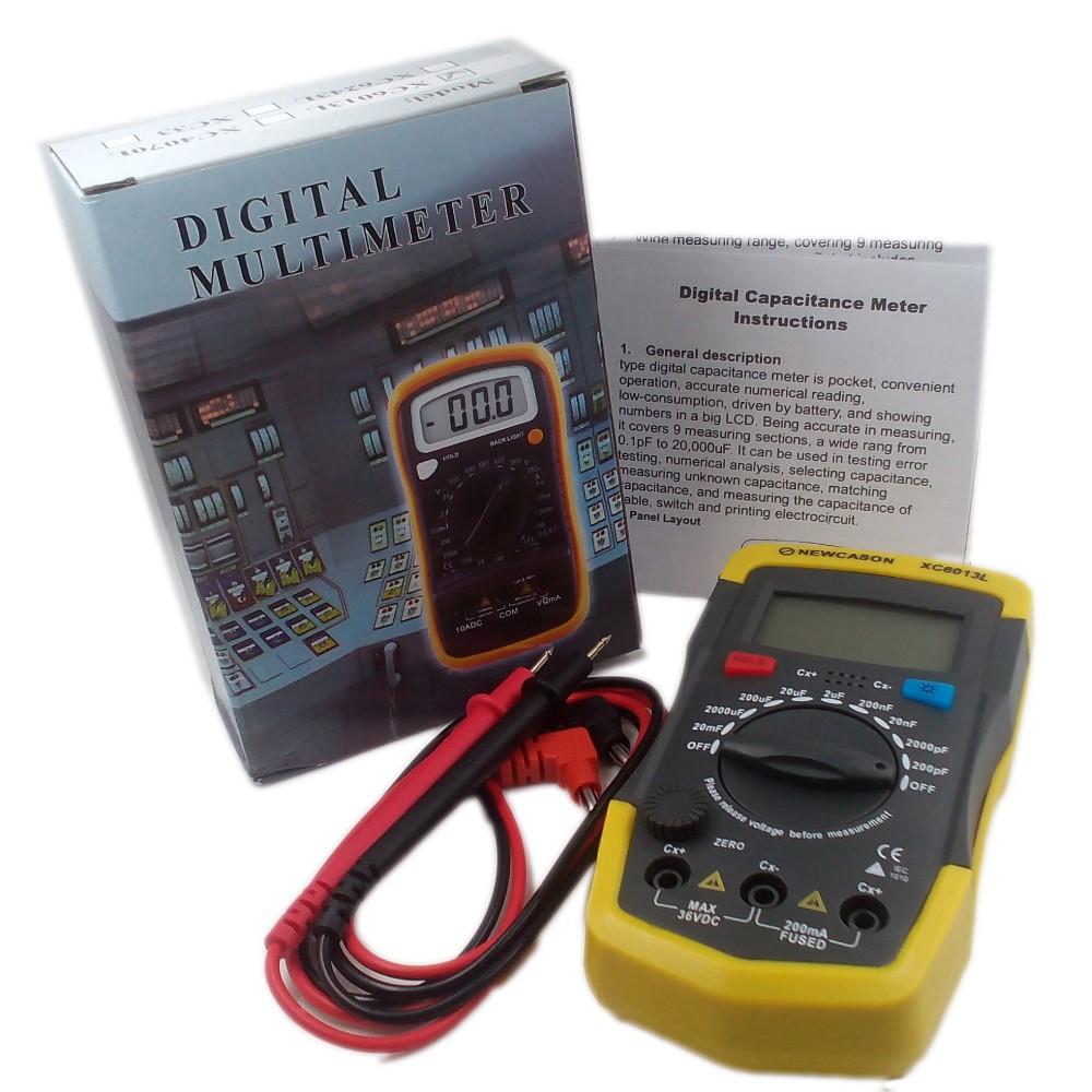 LCD Digtital Meter XC6013L Capacitance Capacitor Tester mF uF Circuit Gauge Capacitance Meter Tester