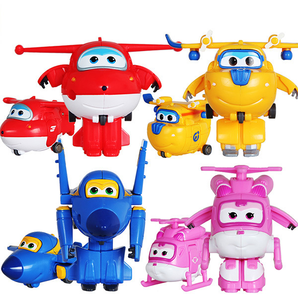 100% Brand New Brinquedos 4pcs/set Super Wings Toys Mini Deformation Airplane Robot Action Figures Toys A Good Gift For Children(China (Mainland))