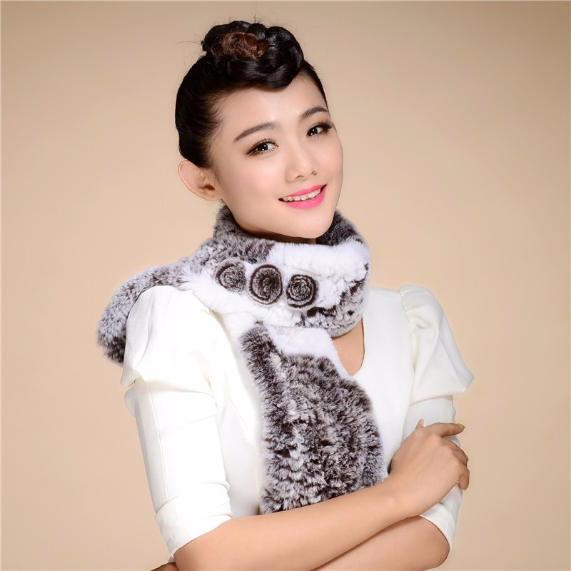 New Arrival Women's Wool  Scarf 2016 Autumn And Winter New Arrival  Rex Rabbit Fur Scarves Large Balls Warm Special Offer WJ16