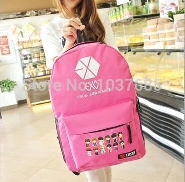 2015 New Fashion School bag EXO Korean College Wind M package female schoolbag tactical mochilas Backpack - Affordable Good Tesco CO LTD store