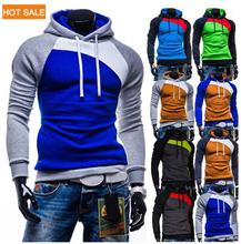 New Leisure Men's Hoodies Patchwork Colors Napping Fashion Men's Tracksuits Sweatshirts Hooded Men Coats 9 colors size M-XXXL (China (Mainland))