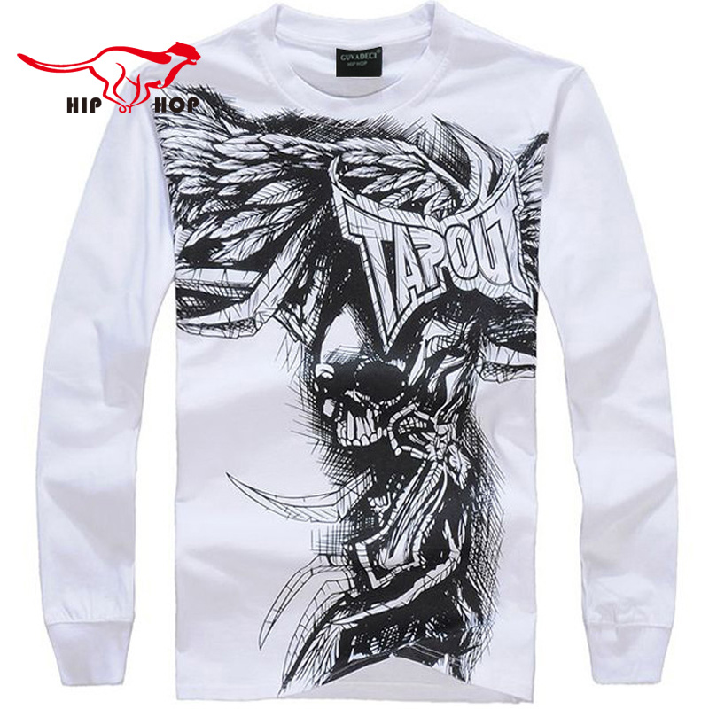 Fashion Brand Men Casual Sports Running Gym Hip Hop Baggy Loose Skeleton Dance Basketball Long Sleeve T Shirt Plus Size XXXL 001(China (Mainland))