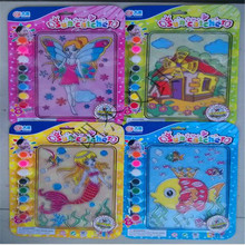 2016 Hot sell cartoon pattern Translucent color painting DIY Children's educational toys (China (Mainland))