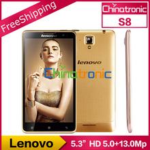 Original Lenovo S8 S898T+ Golden Warrior Mobile Phone MTK6592 Octa Core Dual SIM 5.3inch 1280x720P 2G RAM 16G ROM 13MP(China (Mainland))