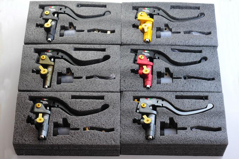 Bronze,Black, Gray,Red,1 pair CNC universal Moto Motorcycle Hydraulic Pump Brake Clutch Master Cylinder Lever 18-20 Adjustable