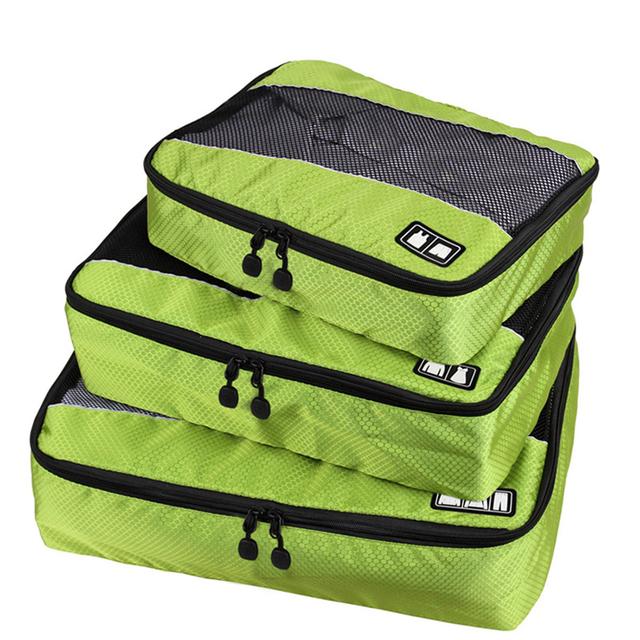3 шт./компл. нейлон мужская упаковка кубики для одежды легкий багаж дорожные сумки ...