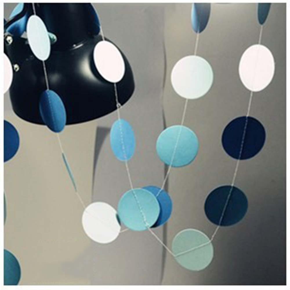 Paper Garland Strings Circle Wedding Party 5PCS Baby Shower Hanging Decoration(China (Mainland))
