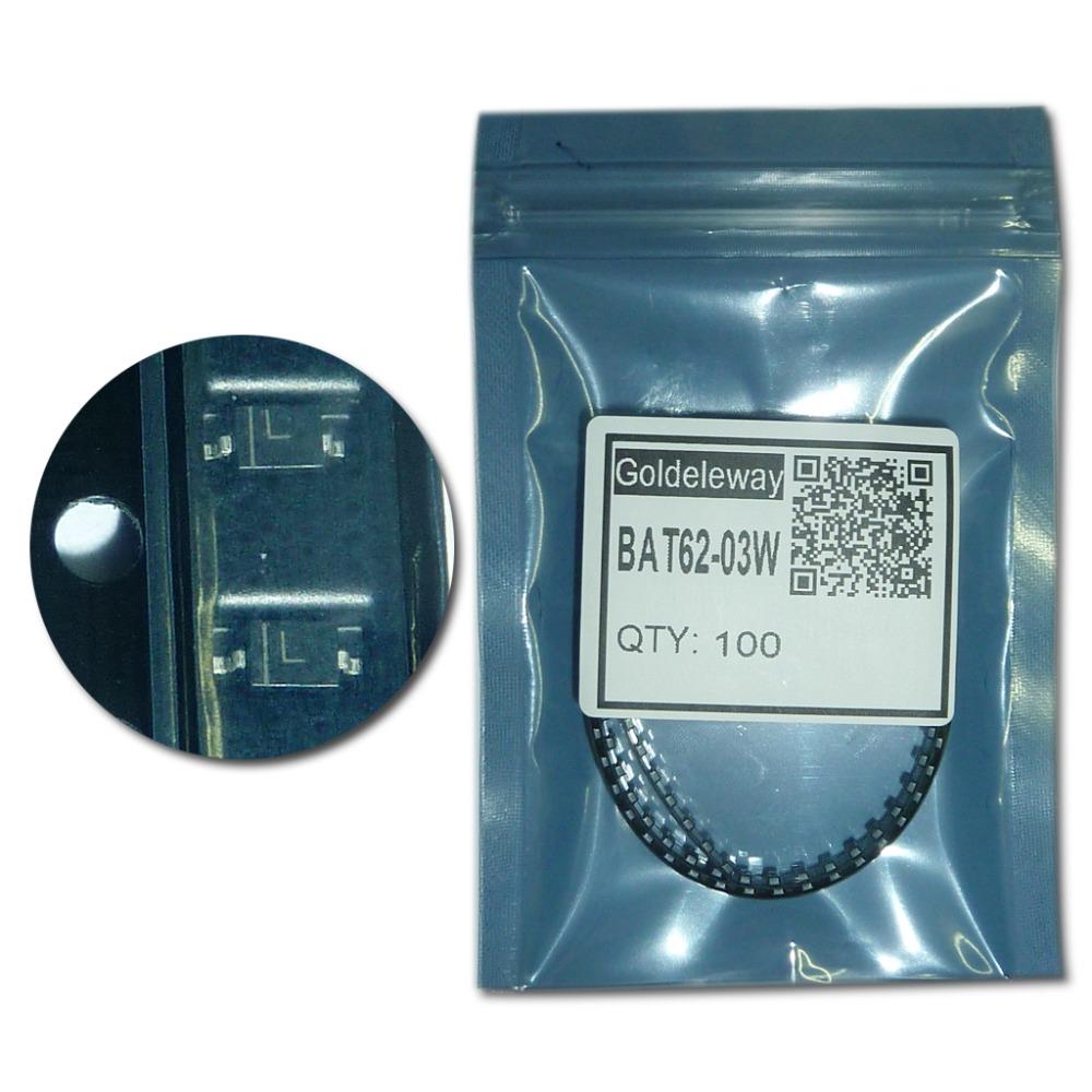BAT62-03W Schottky Barrier Diodes 40V 20mA 580mV/0.58V SOD323/SC-76/USC/0805 marking L Low barrier diode for detectors(China (Mainland))