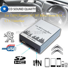 Buy USB SD AUX Car Charger MP3 Music Player Adapter CD Machine Change Peugeot 207 307 RD4 Citroen RT4 C2 C3 12PIN Interface for $39.43 in AliExpress store