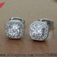 silver  plated earrings , 2016 silver fashion jewelry , stone /bgzajyga bwlaknsa WX-E016(China (Mainland))