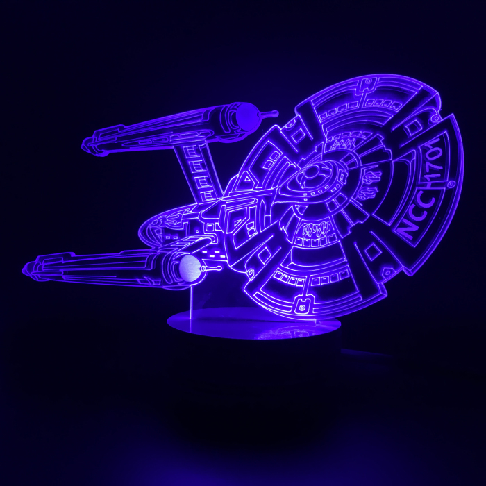 EMS Free Shipping Wholesale 50Pieces 3D Design Bulbing Lamp Star Trek Iron Man Star Ship USS Enterprise NCC-1701 LED Desk Lamp(China (Mainland))