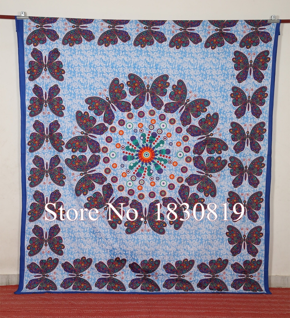 Indian Hippie Mandala Wall Hanging Tapestry Bedsheet (QUEEN Size,100% Premium Quality) Perfect gift For Home/Office Decor