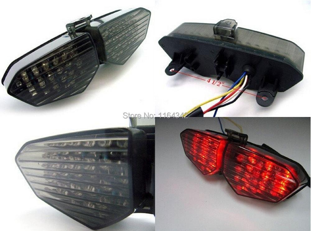 MOTORCYCLE 12v LED TURN SIGNALS TAIL BRAKE LIGHT FOR 03-05 YAMAHA YZF R6 06-09 R6S Free shipping(China (Mainland))