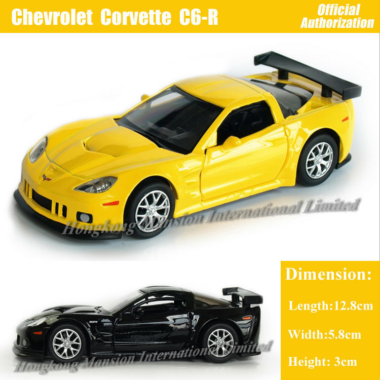 1:36 Scale Diecast Alloy Metal Car Model For Chevrolet Corvette C6-R Collection Model Pull Back Toys Car- Black/Yellow/Red/White(China (Mainland))