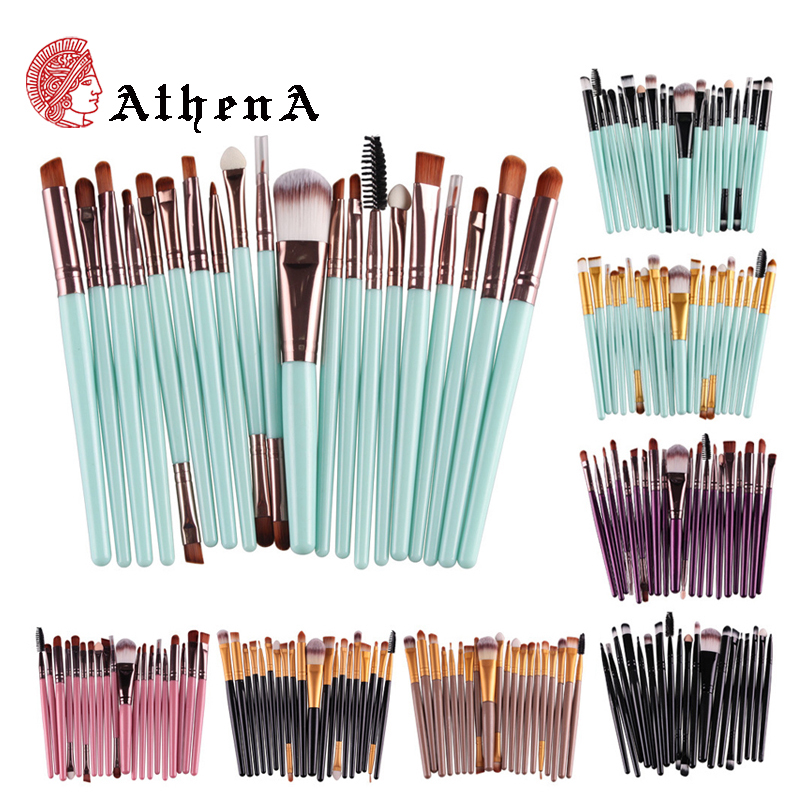 Athena Real 20pcs Professional Makeup Brush Set Goat Hair Technique Beverly Hills Liquid Cosmetics Makeup Brush Zoeva(China (Mainland))